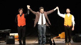 Da sinistra Antonio Vasta, Pietrangelo Buttafuoco e Mario Incudine