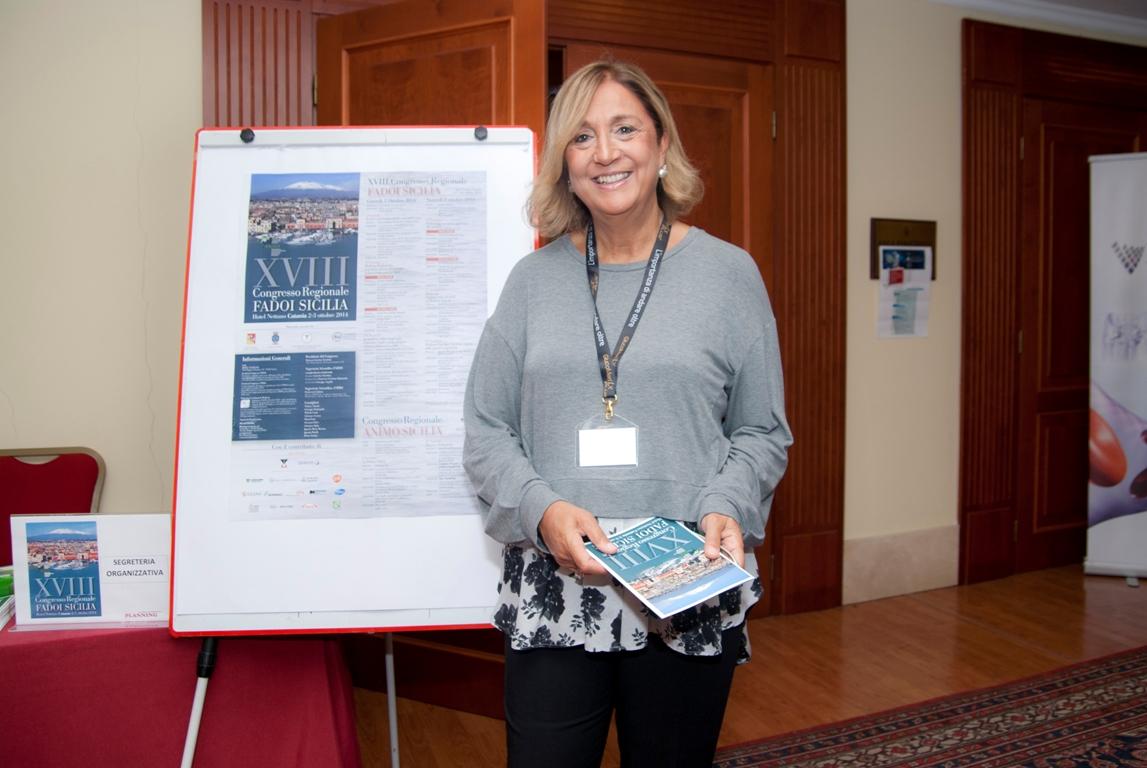La dottoressa Caterina Trischitta, presidente Fadoi Sicilia. Ph. Brunella Bonaccorsi