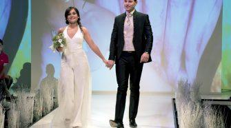 salone della sposa Gli sposi Katia e Giuseppe, hanno vinto il primo premio. Foto Brunella Bonaccorsi