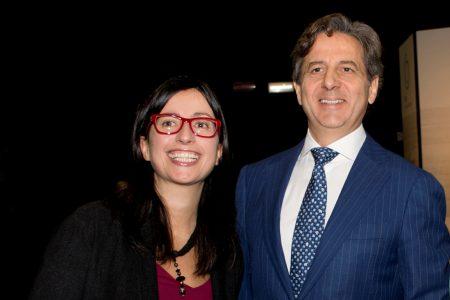 Expandere 2016, Il Direttore di CdO Cristina Scuderi e il Presidente Salvatore Abate. Foto Brunella Bonaccorsi