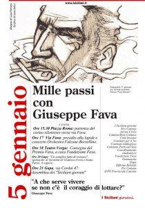 Un corteo antimafia per ricordare Giuseppe Fava