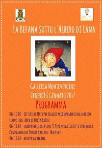 Albero di lana, l'evento conclusivo per il giorno della Befana
