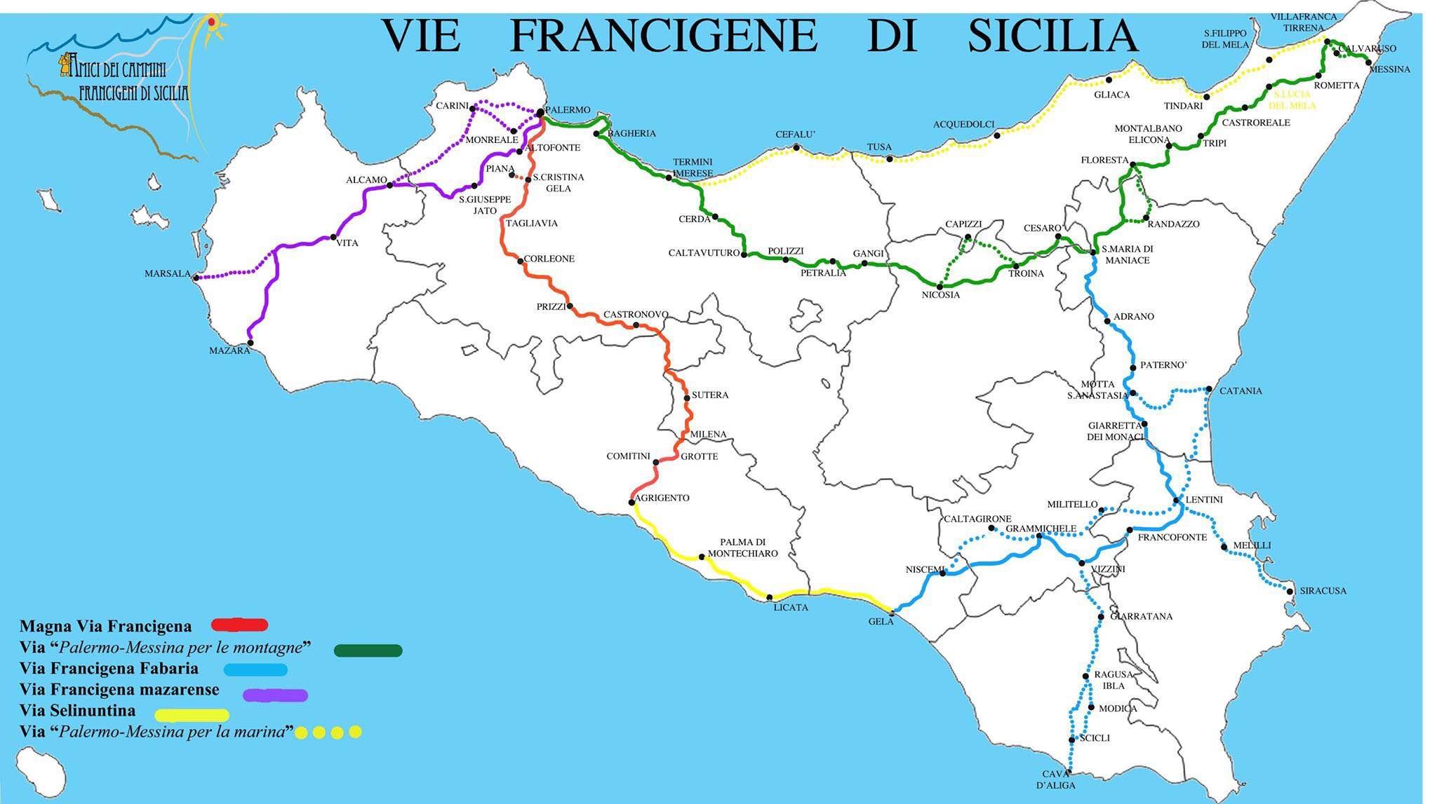 via francigena in sicilia
