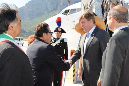 Reali Olanda in visita a Palermo