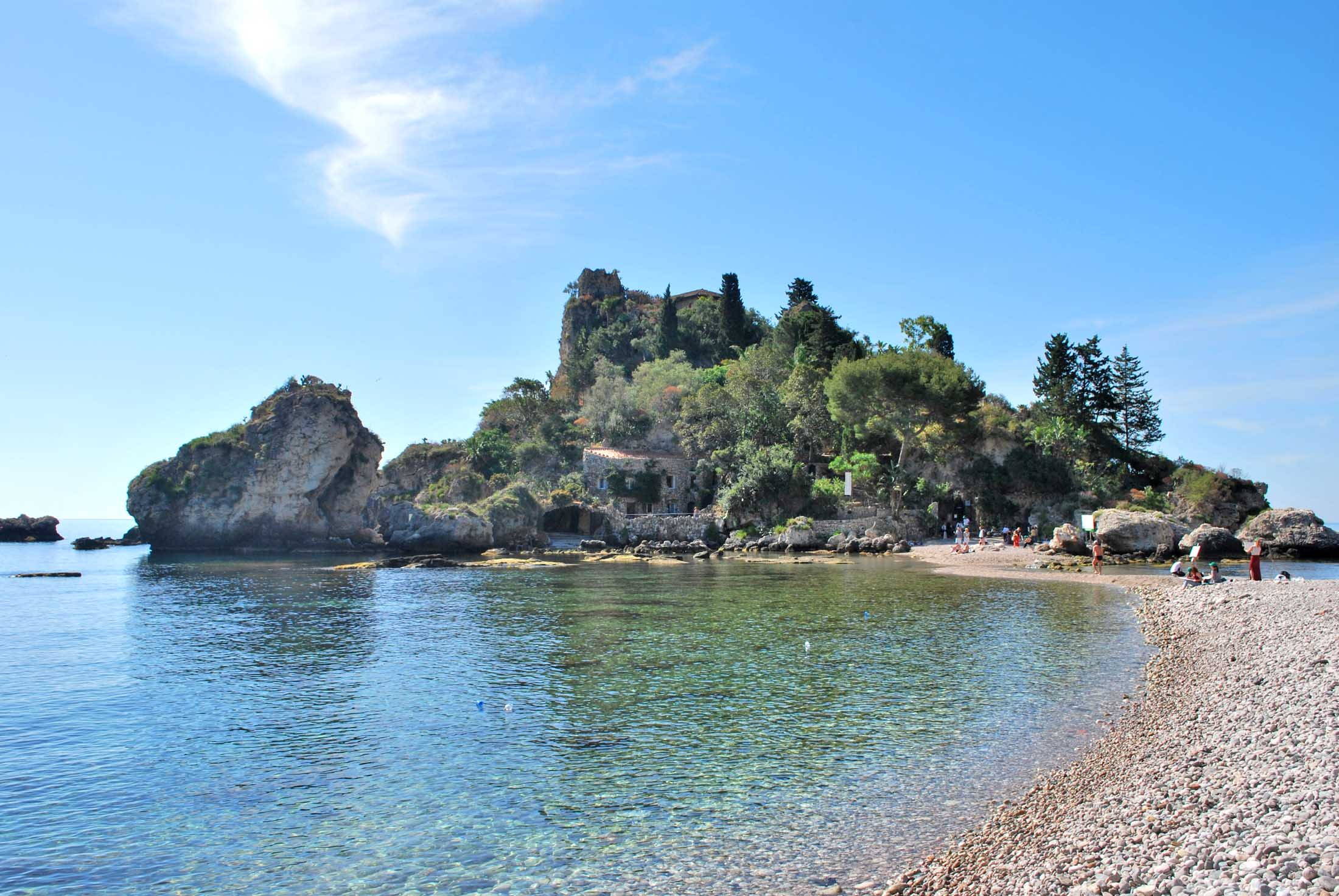 taormina isola bella fondali