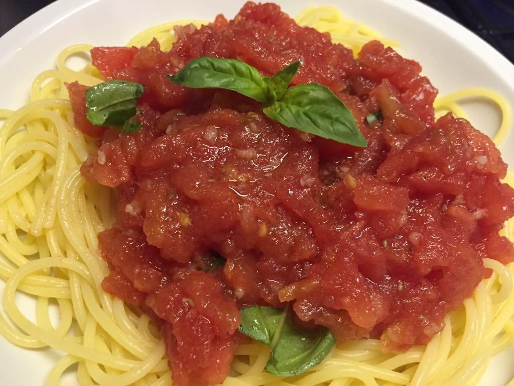 spaghetti al crudo