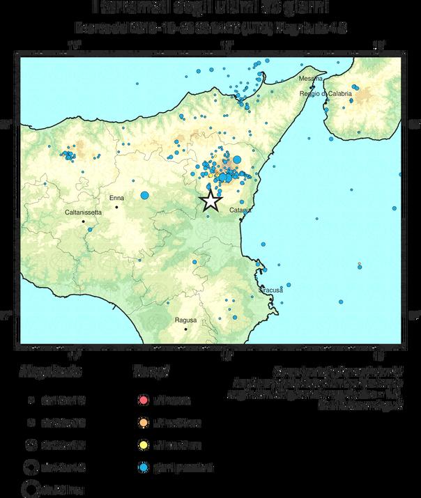terremoto catania Immagini Ingv