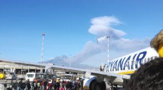 Eruzione Etna: limitato lo spazio aereo