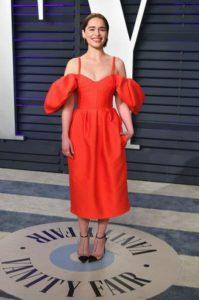 Emilia Clarke in Rosie Assoulin