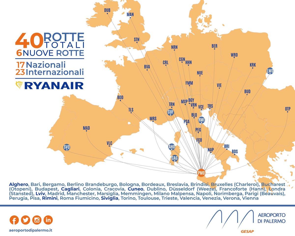 voli da palermo Ryanair